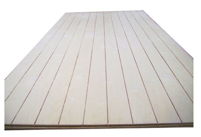 Grooved plywood