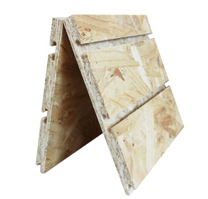 OSB groove slatwall panel with aluminums/hooks inset